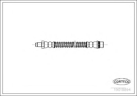 Тормозной шланг CORTECO 19018894