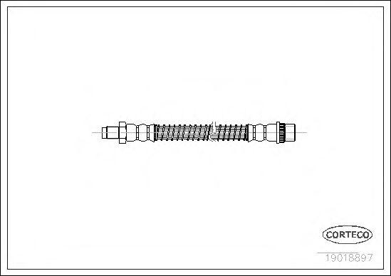 Тормозной шланг CORTECO 19018897