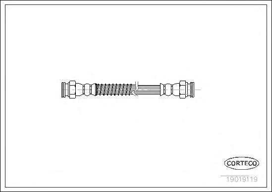 Тормозной шланг CORTECO 19019119