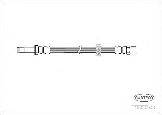 Тормозной шланг CORTECO 19020538