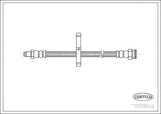 Тормозной шланг CORTECO 19026009
