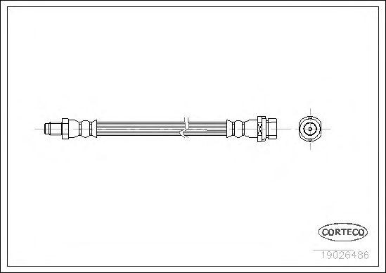 Тормозной шланг CORTECO 19026486