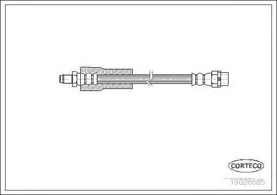 Тормозной шланг CORTECO 19026685