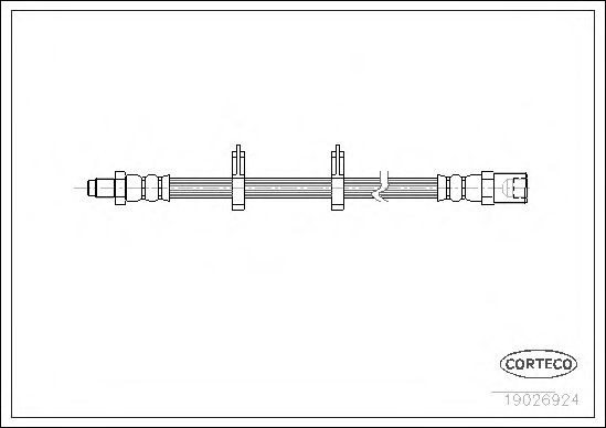 Тормозной шланг CORTECO 19026924