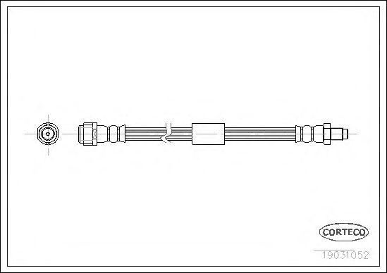 Тормозной шланг CORTECO 19031052