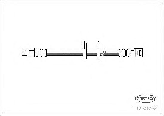 Тормозной шланг CORTECO 19031752