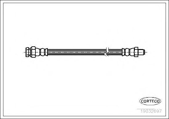 Тормозной шланг CORTECO 19032697