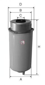 Топливный фильтр SOFIMA S 4456 NR