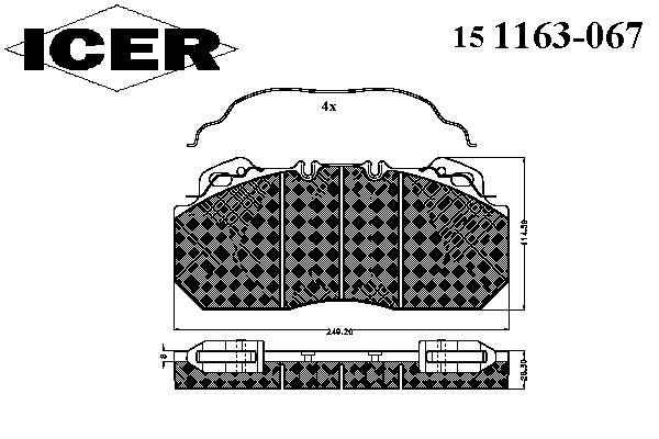Тормозные колодки ICER 151163-067