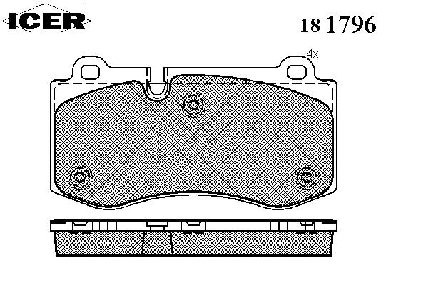 Тормозные колодки ICER 181796