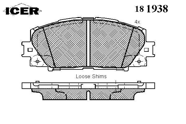 Тормозные колодки ICER 181938