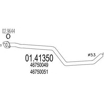Труба выхлопного газа MTS 01.41350
