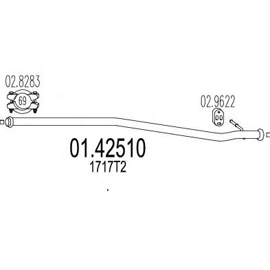 Труба выхлопного газа MTS 01.42510