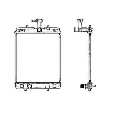 Радиатор, охлаждение двигателя NRF 53459