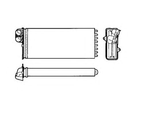 Радиатор отопителя NRF 53551