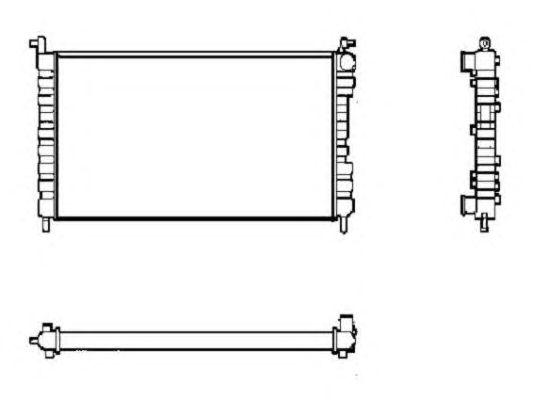 Радиатор, охлаждение двигателя NRF 53600