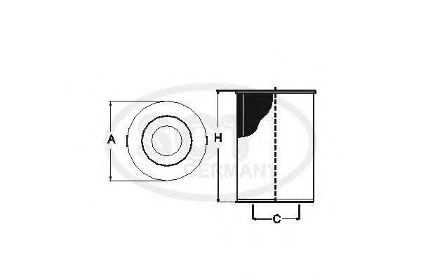 Масляный фильтр SCT Germany SH 4061 P