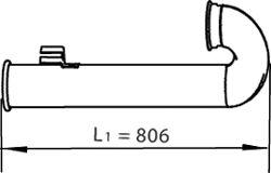 Труба выхлопного газа DINEX 21776