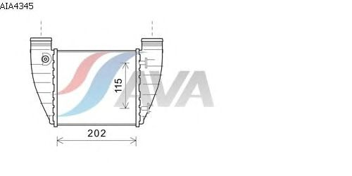 Интеркулер AVA QUALITY COOLING AIA4345