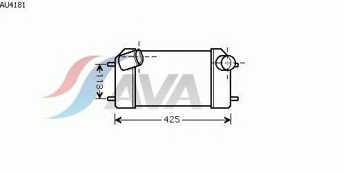 Интеркулер AVA QUALITY COOLING AU4181