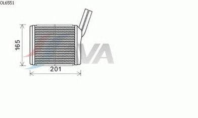 Радиатор отопителя AVA QUALITY COOLING OL6551