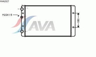 Радиатор, охлаждение двигателя AVA QUALITY COOLING VWA2027