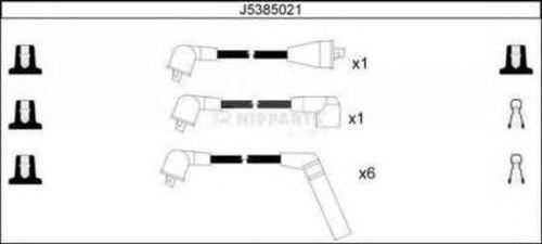 Комплект высоковольтных проводов NIPPARTS J5385021