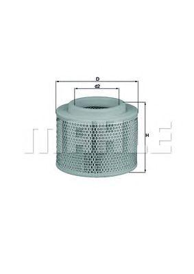 Воздушный фильтр MAHLE ORIGINAL LX 2808/1