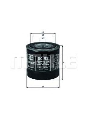 Масляный фильтр MAHLE ORIGINAL OC 53