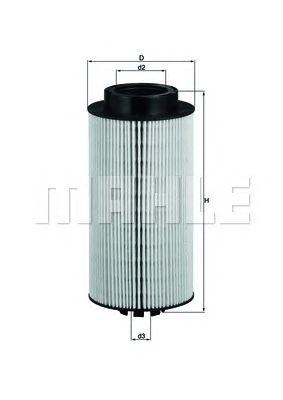 Топливный фильтр MAHLE ORIGINAL KX 264D