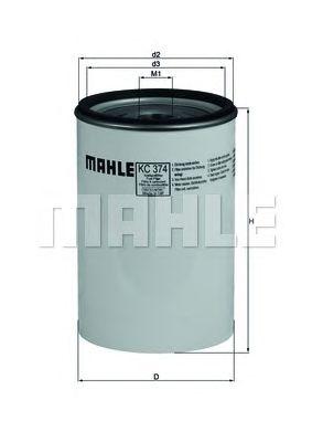 Топливный фильтр MAHLE ORIGINAL KC 374D