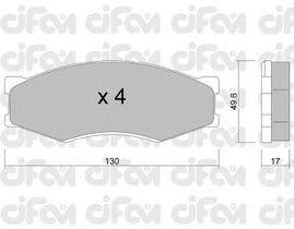 Тормозные колодки CIFAM 822-066-0