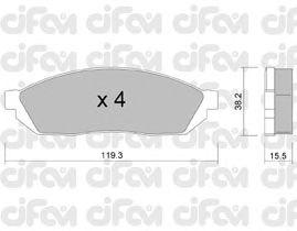 Тормозные колодки CIFAM 822-087-0