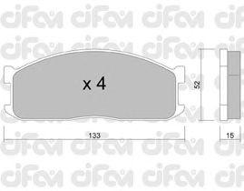 Тормозные колодки CIFAM 822-232-0