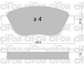 Тормозные колодки CIFAM 822-322-1