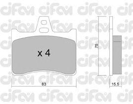 Тормозные колодки CIFAM 822-531-0