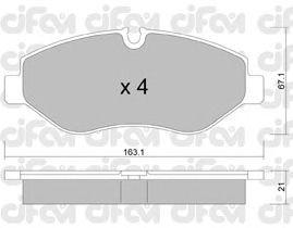 Тормозные колодки CIFAM 822-671-0