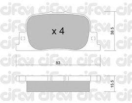 Тормозные колодки CIFAM 822-752-0
