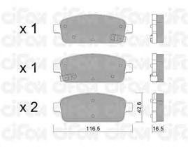 Тормозные колодки CIFAM 822-840-0