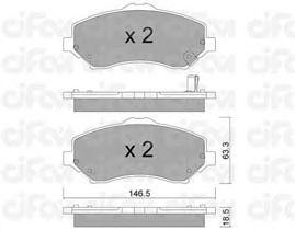 Тормозные колодки CIFAM 822-862-1