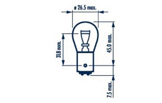 Лампа накаливания NARVA 17916 (фонарь указателя поворота, задняя противотуманная фара, стояночные огни / габаритные фонари)