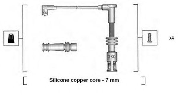 Комплект высоковольтных проводов MAGNETI MARELLI 941045380523