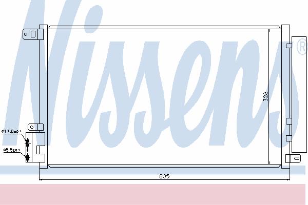 Радиатор кондиционера NISSENS 940095