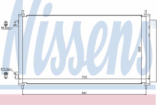 Радиатор кондиционера NISSENS 940140