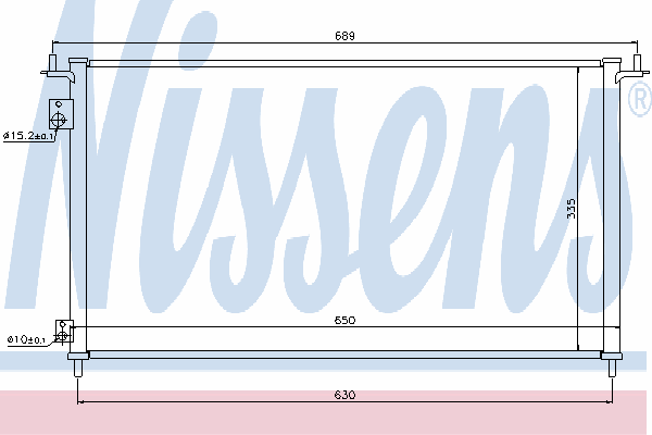 Радиатор кондиционера NISSENS 940162