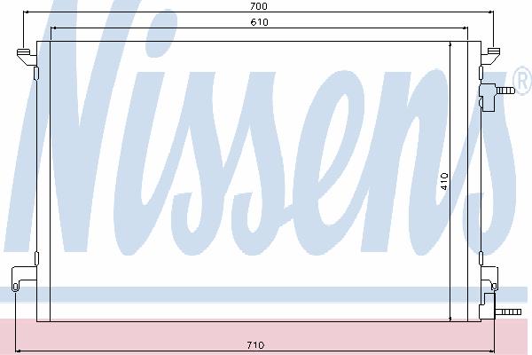Радиатор кондиционера NISSENS 94852