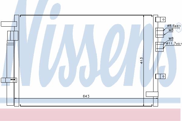 Радиатор кондиционера NISSENS 94914