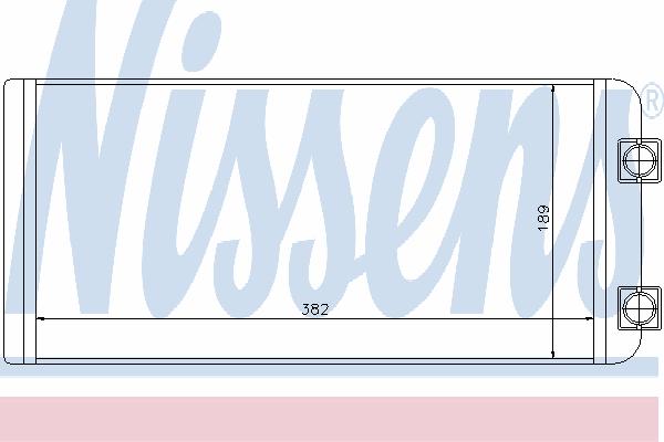 Радиатор отопителя NISSENS 73643