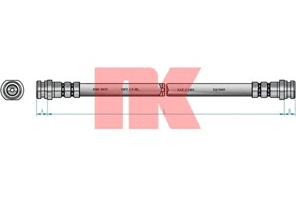 Тормозной шланг NK 855231