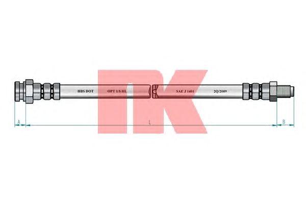 Тормозной шланг NK 8523128